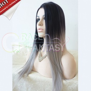 Silk Straight Lace Front Wigs Synthetic