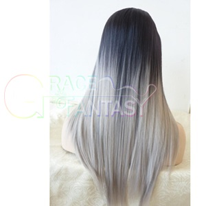 Heat Resistant Ombre Wigs with Baby Hair