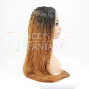 Synthetic Lace Wigs copper brown synthetic lace front wig f