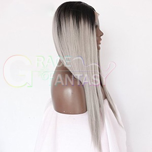 straight synthetic lace front