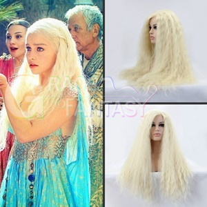Kinky Straight Blonde Lace Front Wigs