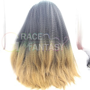 Kinky Straight Synthetic Lace Front Wigs