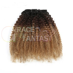 kinky curly loos curly hair extensions with clips for women daily use