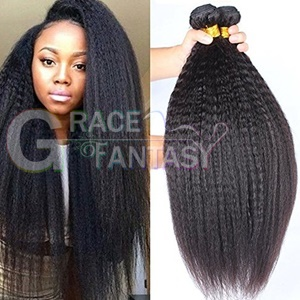 natural hair color brazilian virgin coarse yaki kinky straight weaves weave italian unprocessed