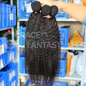 brazilian virgin hair coarse yaki kinky straight