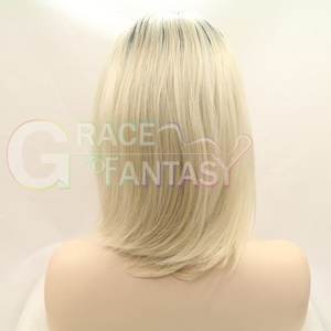 straight ombre blonde lace front wig