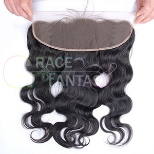 free shipping 7a+ human hair brazilian lace frontal closure 13x4 with baby part bleached knots virgin body wave