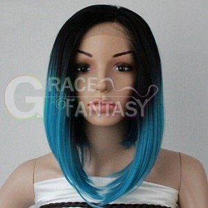 Straight Bob Synthetic Lace Front Wigs