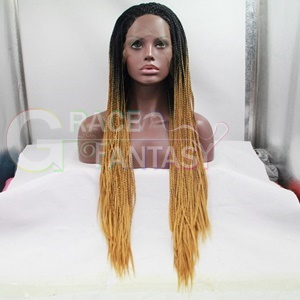 Amazing Black to Blonde braided lace wigs