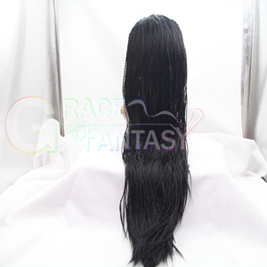 kinky twist braided synthetic lace front wigs