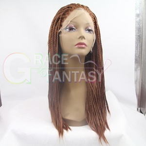 two tones synthetic lace front wigs gray grey silver hand tied wavy dark roots heat resistant fiber hair women