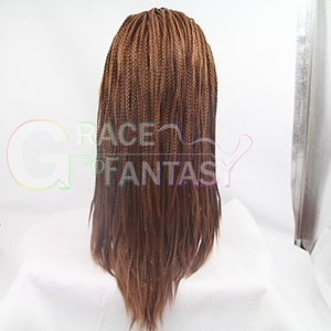 two tones synthetic lace front wigs