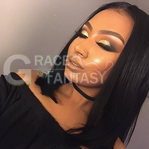 Celebrity Rihanna Wig Short Synthetic Lace Front Wigs
