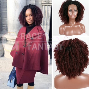 Ombre 1B/99j Synthetic Lace Front Wigs