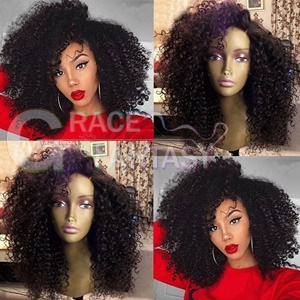 Kinky Synthetic Lace Front Wigs High Quality Heat Resistant Synthetic Hair