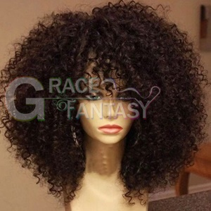 Celebrity African American Synthetic Hair Wigs Synthetic Curly Lace Front Wig