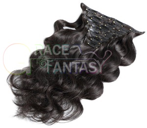peruvian body wave clip hair extensions