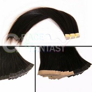 high quality tape hair extensions brazilian virgin straight pu skin weft in human