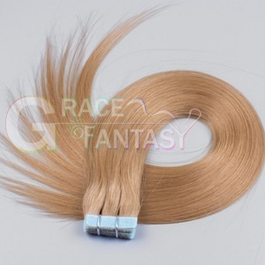 top quality blonde tape in human hair extensions 20pieces/50g skin weft seamless 22''