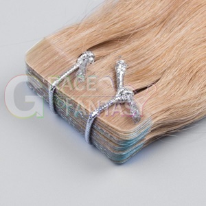 blonde skin weft seamless hair