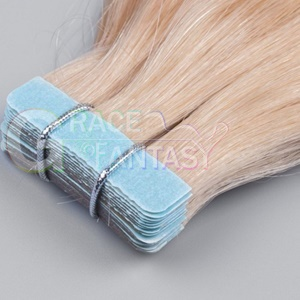 blonde virgin remy hair tape extensions