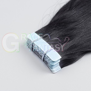 black color tape hair extensions