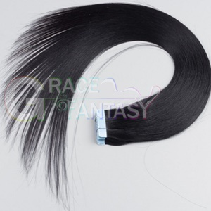 black color human virgin remy tape in hair extensions
