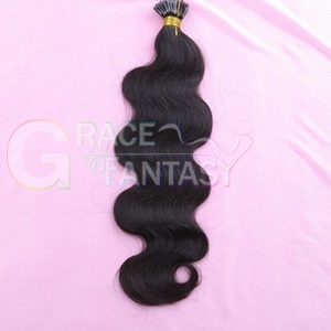 #1b black keratin bonded hair extensions