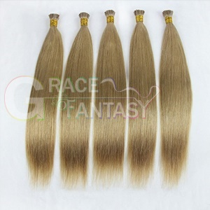 "24"" blonde straight pre bonded italian keratin human hair extensions 1g per standard i tip 100g"