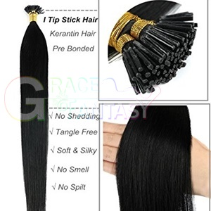 Pre bonded hair extensions Brazilian itip hair extensions