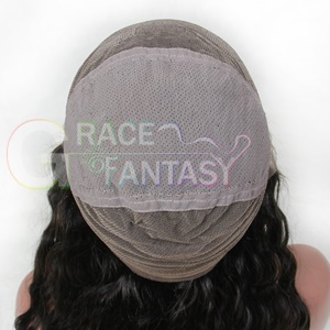 Deep Curly Full Lace Human Hair wigs natural color With Elastic Adjustable Straps and Combs
