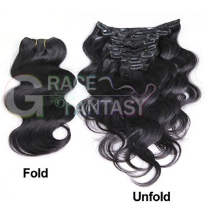 body wave brazilian virgin remy clip hair extensions