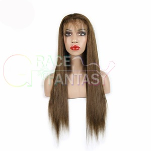 7a glueless full lace human hair wigs for brazilian virgin straight front wig 8-26inch ui