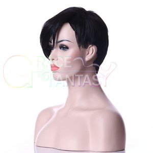 full lace short human hair wigs with bangs