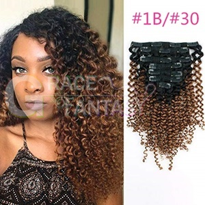Unprocessed Kinky Curly Clip Hair