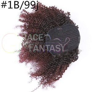 Ponytail Hair Extensions 4B 4C Clip in