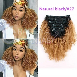 Ombre Two Tone 1B Off Black Fading Clip Hair Extension