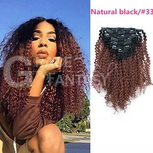 Kinky Curly Hair clips extensions