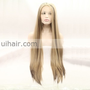 High light Synthetic Front Lace Wigs