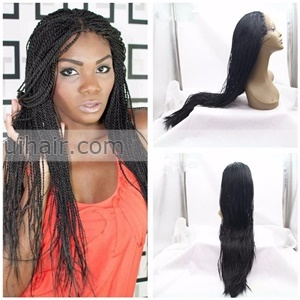 synthetic hair wig express braided lace front wigs for black women braiding