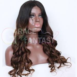 Brown Glueless Body Wave Remy Wig With Baby Hair