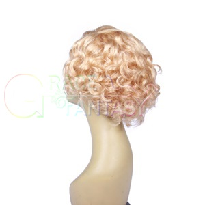 Glueless Wig Pre Plucked Bob Cut Curly Lace Front Wig