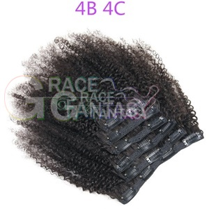 Afro Kinky Curly Clip In Human Hair