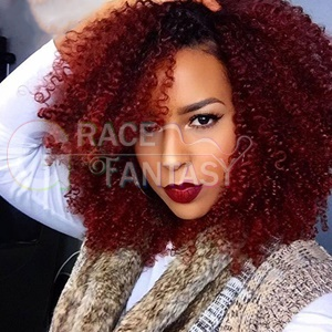 Grace Fantasy Afro Kinky Curly Red Wigs