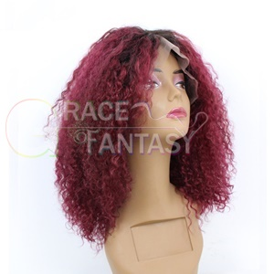 Human Hair Hairstyle Short Lace Front Wig Curly Cosplay Wig