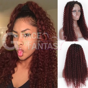 Grace Fantasy Wigs for Women Red Curly Wigs