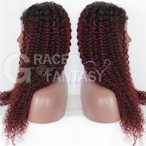 Grace Fantasy Wigs for Women Red Curly Wigs Afro Kinky Hair Wigs