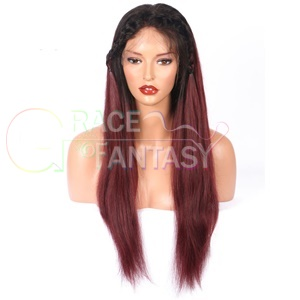 Grace Fantasy Black to 99j Straight Lace Front