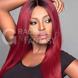 Straight Lace Front Human Hair Wigs Pre Plucked