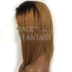Front Human Hair Wigs Pre Plucked With Baby Hair